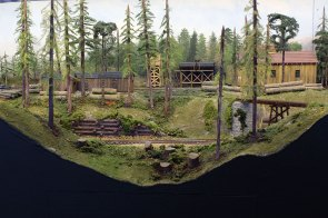 A logging camp on Prospect Point