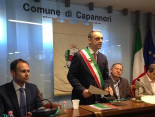 Il sindaco Luca Menesini in consiglio comunale