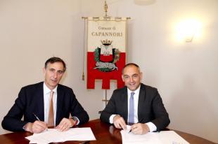 Il sindaco Menesini e il presidente della Camera di Commercio Bartoli