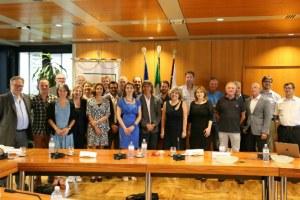 Caselli, foto gruppo 1 incontro in Regione con Spierings, assessore North Brabant (16-6-2017)