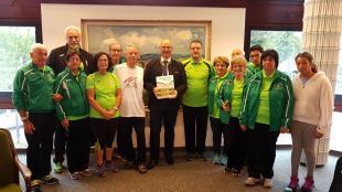 Nella foto: i Marciatori Marliesi ricevuti dal sindaco di Schwarzenbach an der