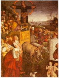 """Amico Aspertini, """"La leggenda del Volto Santo"""" 1509"""