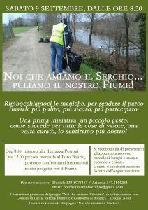 Volantino iniziativa pulizia Serchio