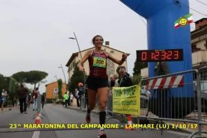 Denise Cavallini al traguardo di Lammari