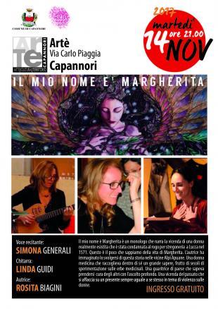 Martedì 14 novembre ad Artè va in scena il monologo 'Il mio nome è Margherita'