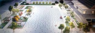 Un disegno della nuova piazza