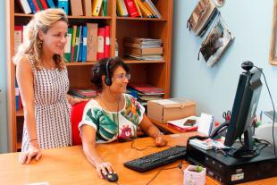 l'assessore alle attività produttive, Serena Frediani, sperimenta il servizio