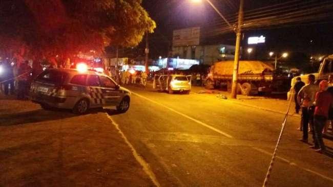 Local onde o paraibano foi assassinado/ Foto: Leitor/Via WhatsApp)