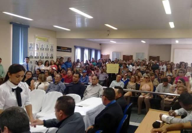 Auditório da Câmara de Vereadores lotado/Foto Beto Cézar