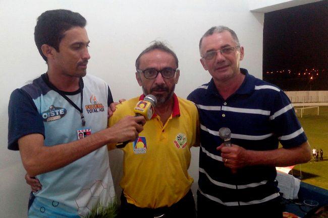 Felipe Silva, Ricardo Brilhante e NIvan Furtado/Equipe Esportiva da Rádio Oeste da PB