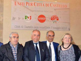 Elezioni 2016 a Città di Castello, Luciano Bacchetta ha presentato la coalizione