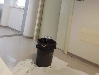 Piove dentro l'ospedale di Città di Castello, interviene la Lega Nord
