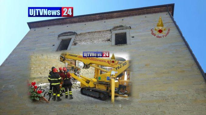 Bomba inesplosa trovata nel muro del Duomo di Città di Castello