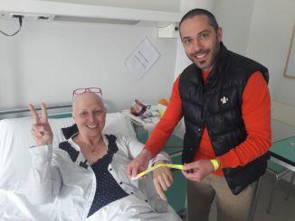 Via il tumore di corsa, Domenico Corradin fa tappa a San Giustino