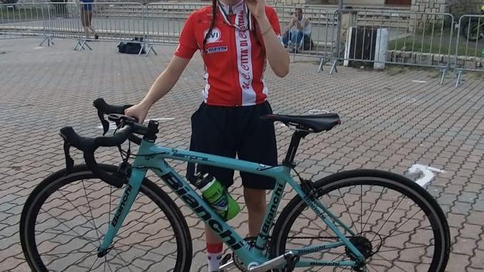 La più veloce ciclista under 13 in Italia è la tifernate Giulia Calderini