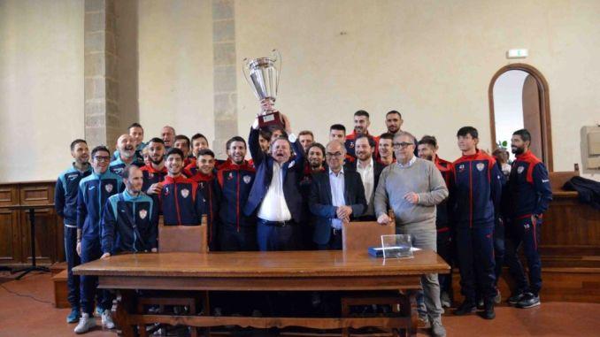 Tiferno 1919 premiata per la vittoria della Coppa Italia di Eccellenza Umbra