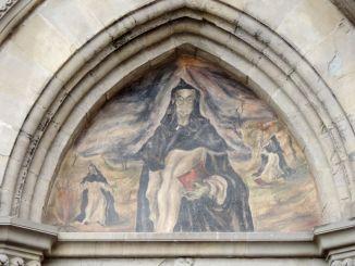 Cominciato restauro dipinto murale di Aldo Riguccini a Città di Castello