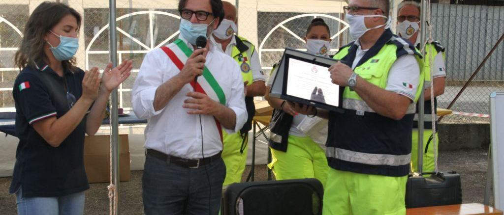 Emergenza Covid-19, cerimonia di chiusura del Centro operativo comunale