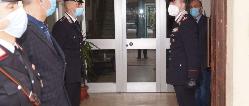 Il Generale di Brigata Antonio Bandiera visita la Compagnia dei carabinieri Tifernate