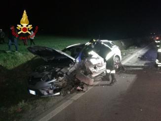 Incidente a Città di Castello, due auto si scontrano, feriti