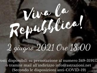 CCinema Teatro Astra: Evento per il 75° anniversario Repubblica Italiana