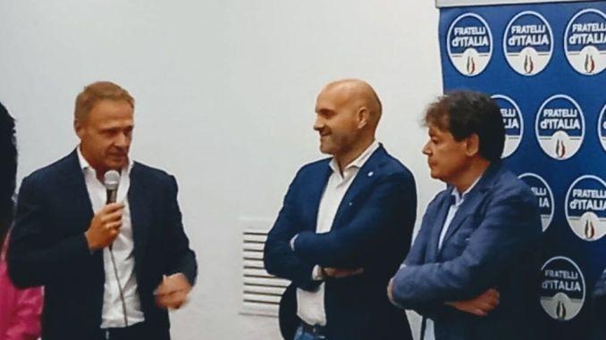 Francesco Lollobrigida a Trestina per sostenere Andrea Lingnani Marchesani