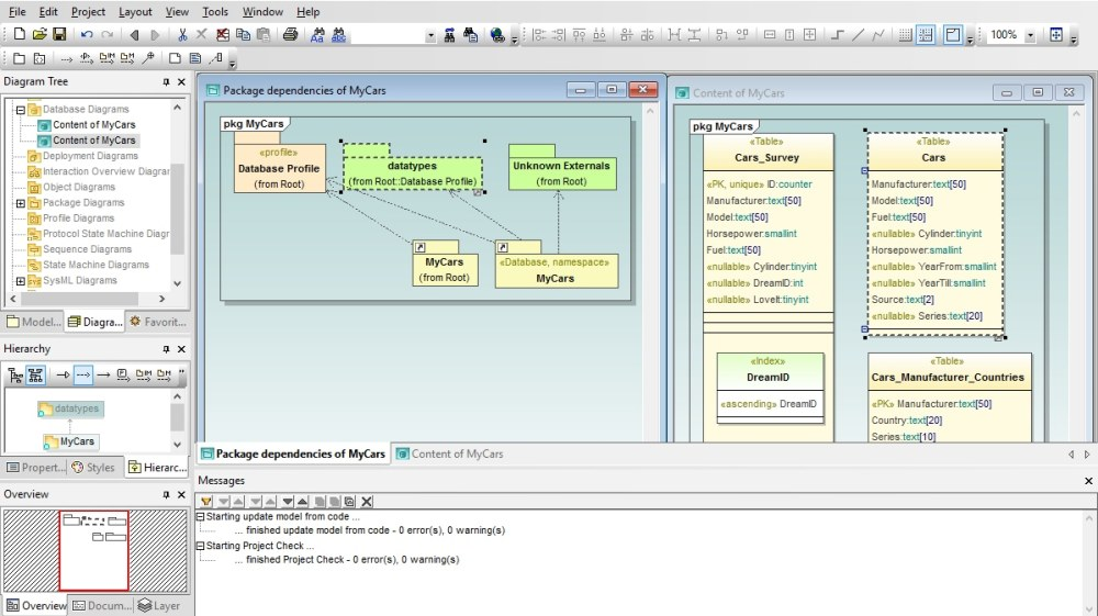 medium resolution of uml database diagrams in altova umodel
