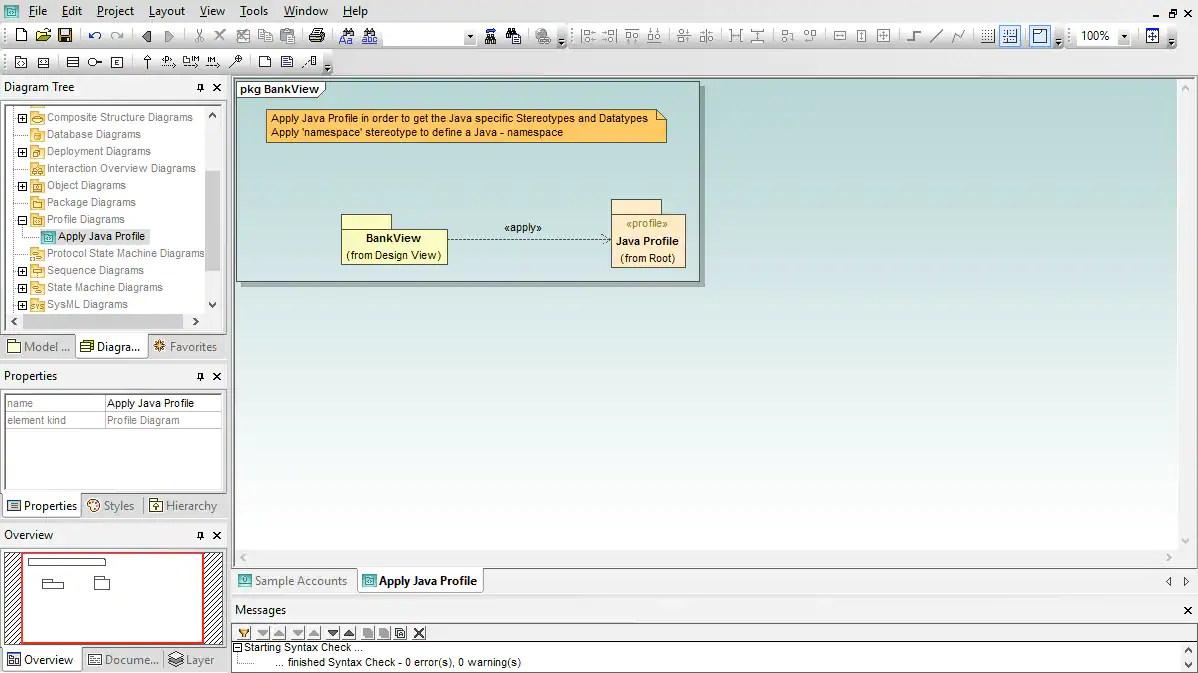 hight resolution of uml profile diagram