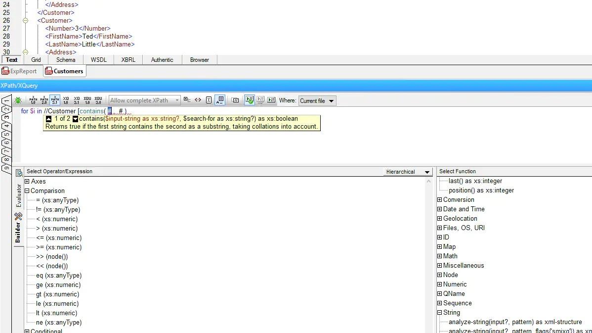 XPath Tools  Altova