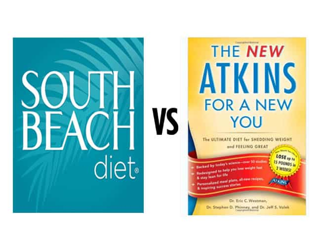 South beach diet VS Atkins diet