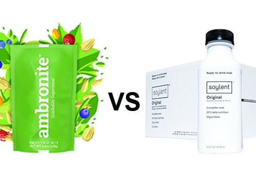 Ambronite Drinkable Supermeal vs. Soylent Meal Replacement Drinkable Powder