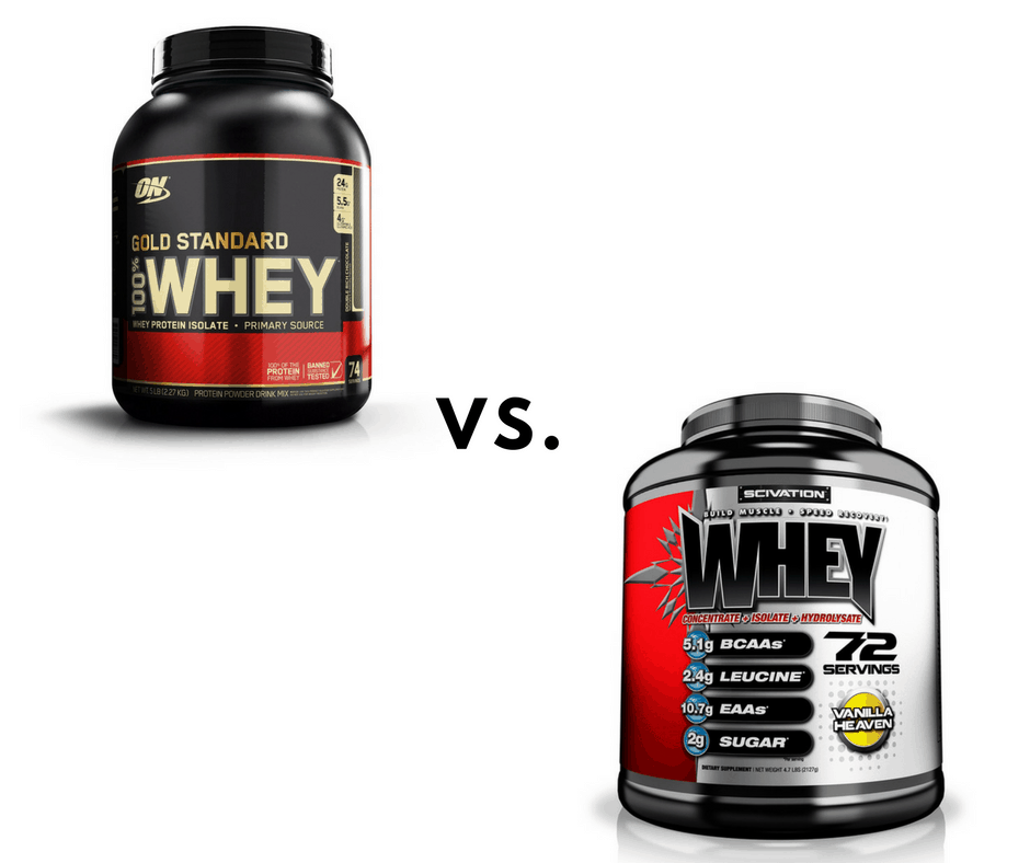 scivation whey vs gold standard whey - which is better