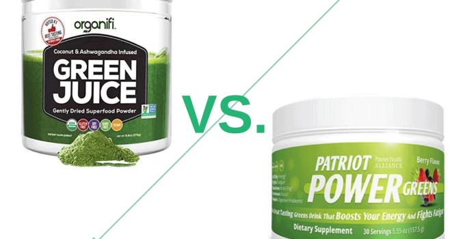 organifi green juice vs patriot power green-min