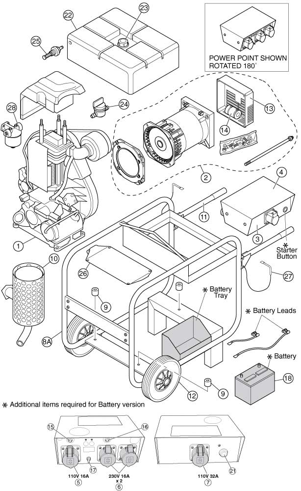 Altrad Belle :: Belle Spare Parts : Generator G5000