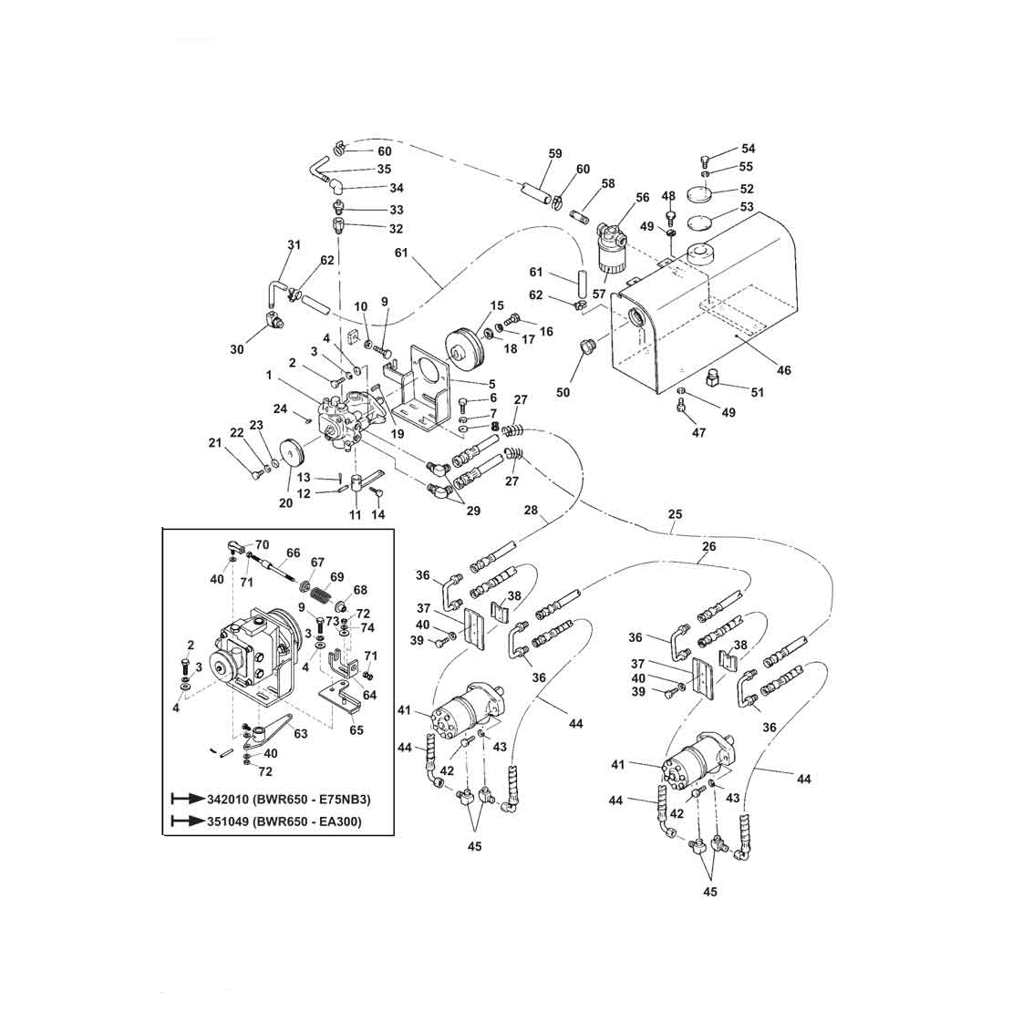 hight resolution of part diagram