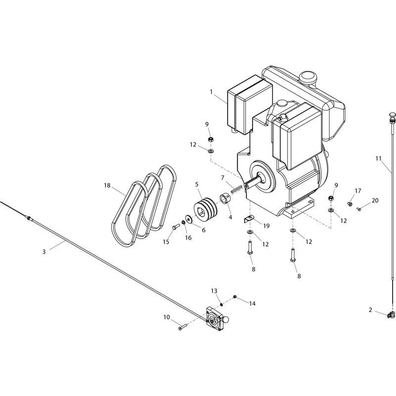 Belle RangerSaw Lombardi Engine Concrete Saw Parts