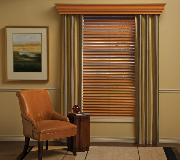 Window Treatments Over Wood Blinds