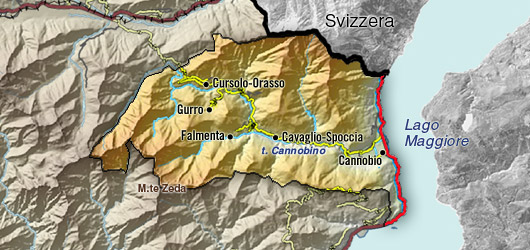 Karte Valle Cannobina