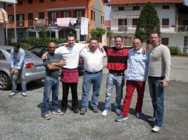 Beim Essen in der Nähe von Turin