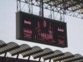 Paolo Maldini das letzte mal auf der Anzeigetafel