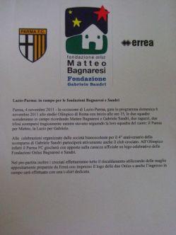 Presseerklärung Lazio Parma