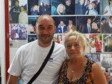 Mr.Altravita in der Stadionbar von Ancona mit der Chefin