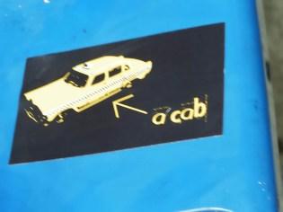 a cab Aufkleber