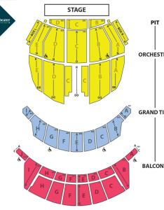 View seating chart also waitress altria theater official website rh altriatheater