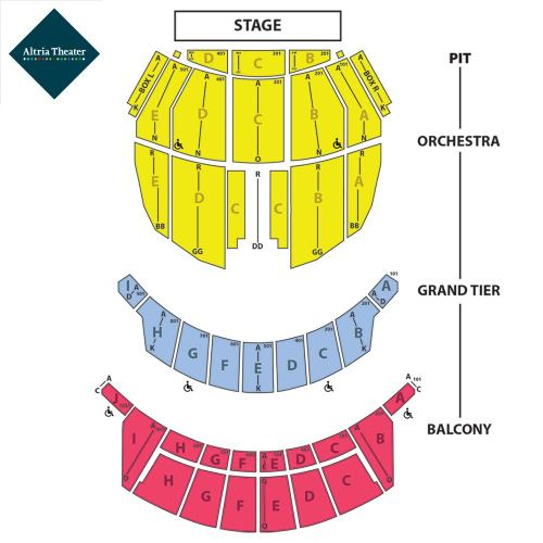 small resolution of altria seating chart