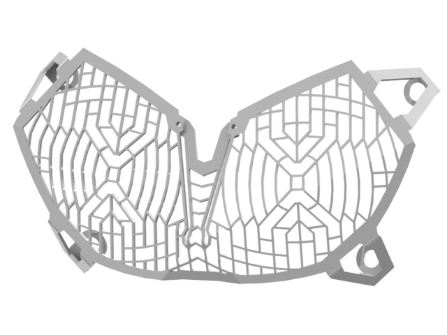 Stainless Steel Mesh Headlight Guard for the Yamaha Super
