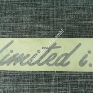 0060900300 DECALCOMANIA ADESIVO LIMITED I.E. PER RENAULT - CM 16,5 x 4 CIRCA MARCA ORIGINALE RENAULT FONDO DI MAGAZZINO 27473 - B5+