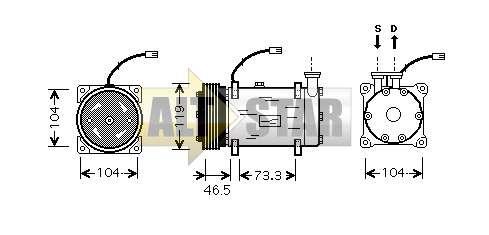 Компрессор кондиционера 240235 CARGO . купить, ремонт