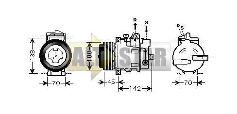 Компрессор кондиционера 7SEU17C DENSO . купить, ремонт