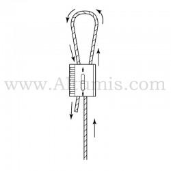 kit câble de suspension FC15 avec câble embout boucle